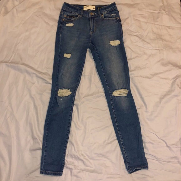 garage size 0 high waisted ripped skinny jeans